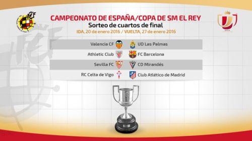 Athletic Bilbao rywalem Barçy w ćwierćfinale Pucharu Króla