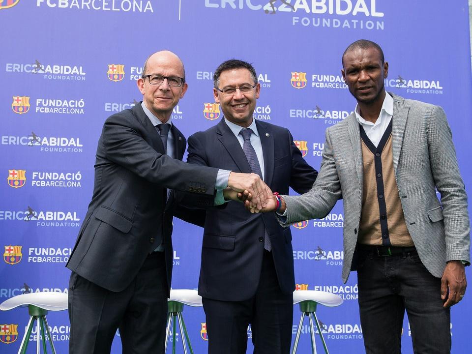 Współpraca między Fundacjami FC Barcelony i Érica Abidala