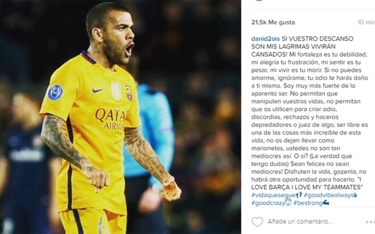 Dani Alves komentuje swoje wideo