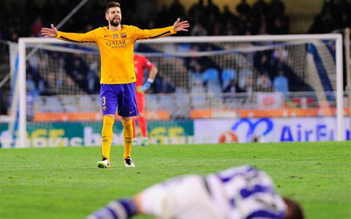 Drobne urazy Piqué i Rafinhii po powrocie z San Sebastián