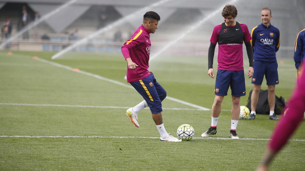 Neymar na treningu