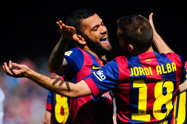 Dani Alves i Jordi Alba