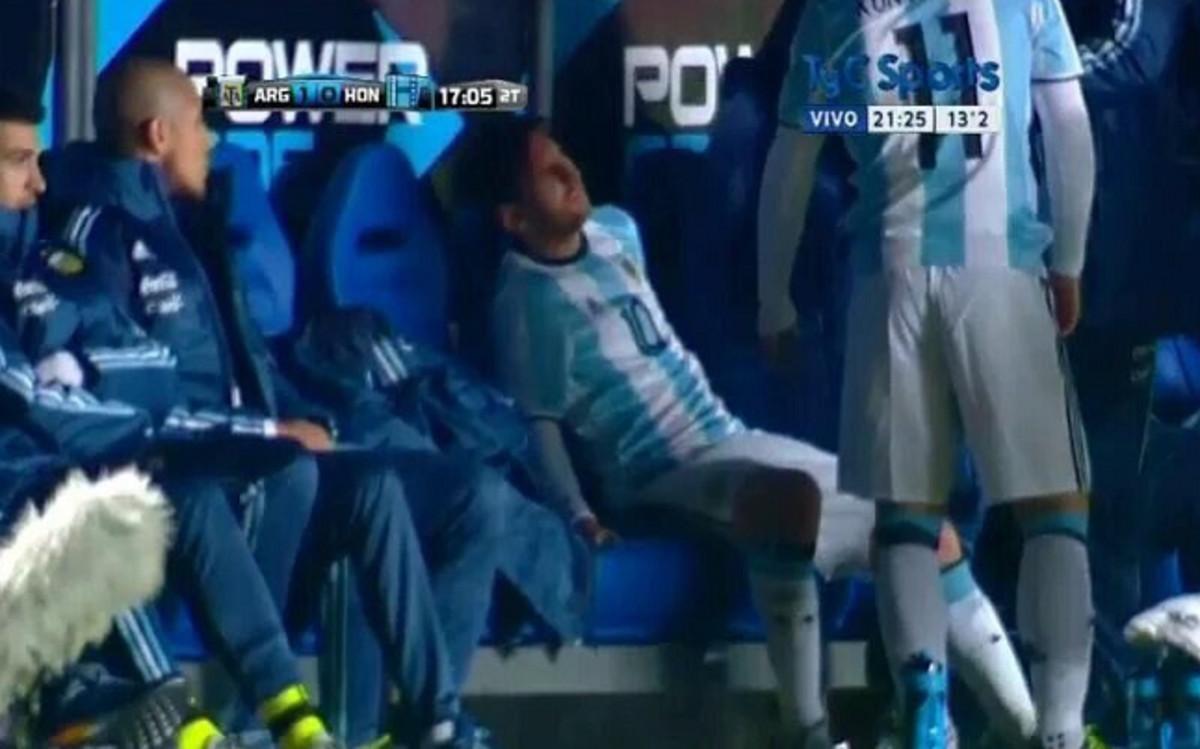Kontuzja Messiego w meczu z Hondurasem