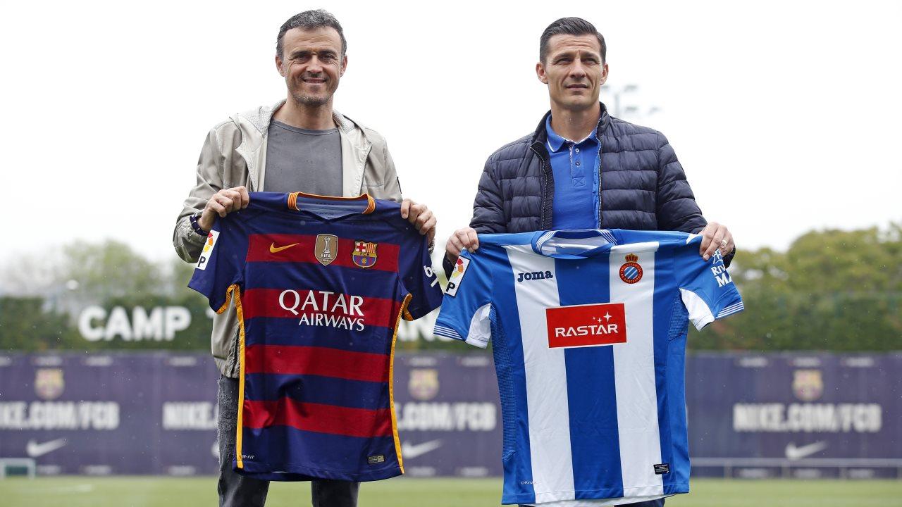 Luis Enrique i Constantin Galca spotkali się przed derbami