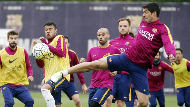 Ostatni trening przed meczem z Espanyolem