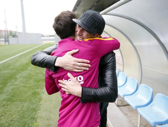 Pinto odwiedził zawodników na treningu
