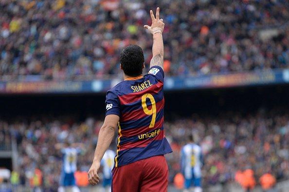 Luis Suárez strzelił więcej goli niż cały Espanyol