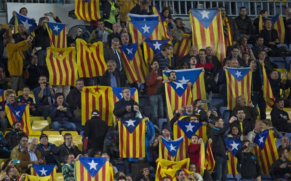 Zakaz wnoszenia flag Katalonii na finał