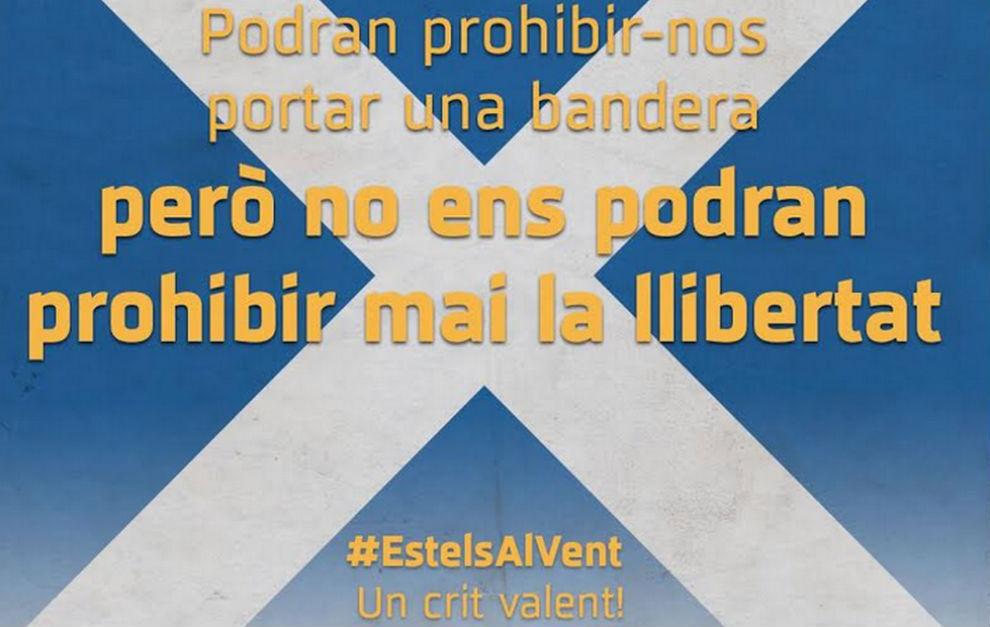 Szkockie flagi zamiast katalońskich
