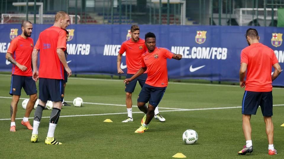 Trening z udziałem zawodników Barçy B