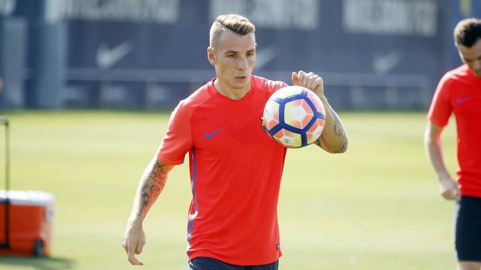 Pierwszy trening Lucasa Digne w FC Barcelonie