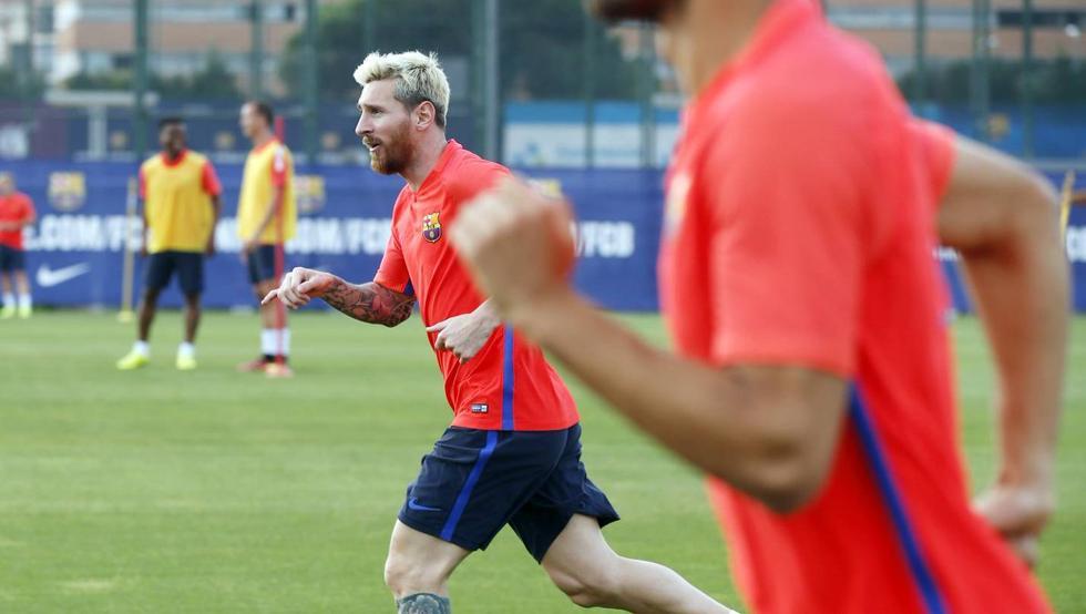 Leo Messi odbył część treningu z grupą
