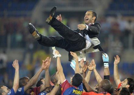 Guardiola piszący historię Barcelony